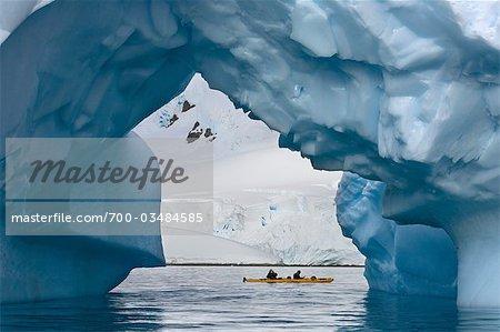 Kayakers in Antarctica