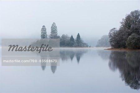 Island, Loch Achray, Trossachs, Stirling, Scotland, United Kingdom