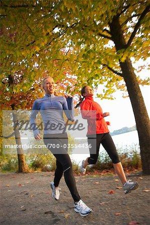 Women Running, Green Lake Park, Seattle, Washington, USA