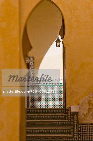 Doorway in Mausoleum of Moulay Ismail, Meknes, Morocco