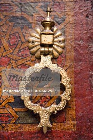 Door Knocker on Main Door of Sidi Ahmed Tijani Mosque, Fez, Morocco