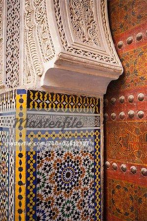 Detail of Main Door of Sidi Ahmed Tijani Mosque, Fez, Morocco
