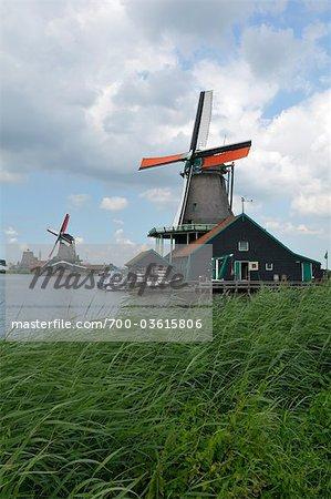 Windmills at Zaanse Schans, Zaandam, Netherlands