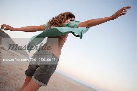 Woman on the Beach, Near Cabo Pulmo, Baja California Sur, Mexico