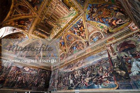 Hall of Constantine, Raphael Rooms, Vatican Museum, Vatican City, Rome, Italy
