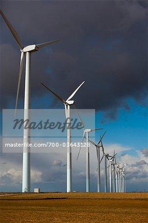 Wind Farm, La Mancha, Albacete, Castilla-La Mancha, Spain