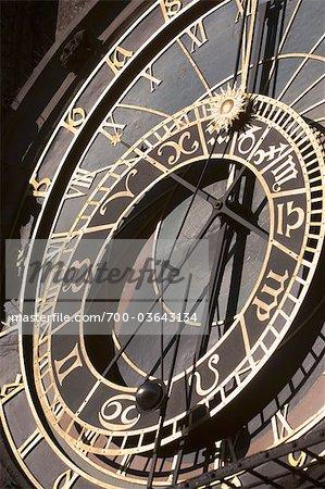 Close-up of Prague Astronomical Clock, Old Town Square, Old Town, Prague, Czech Republic