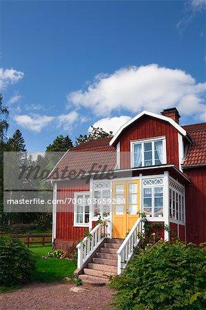 Red Wooden House, Katthult, Gibberyd, Smaland, Sweden