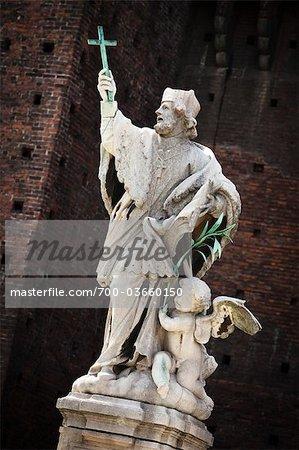 Statue of St Giovanni Nepocedemo, Castello Sforzesco, Milan, Province of Milan, Lombardy, Italy