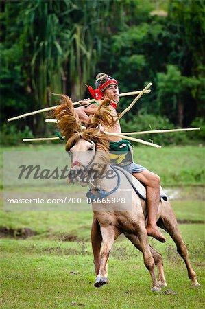 Pasola Warrior, Sumba, Indonesia