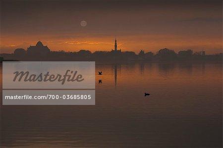 Sunset Over Lake Veere, Veere, Zeeland, Netherlands
