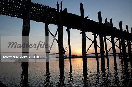U Bein Bridge, Amarapura, Mandalay District, Myanmar