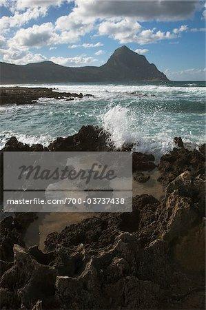 Rocky Coast at Casteluzzo, Province of Tarpani, Sicily, Italy