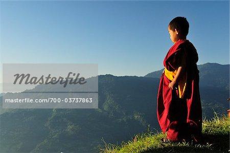 Young Buddhist Monks, Sanga Choeling Monastery, Pelling, West Sikkim, Sikkim, India