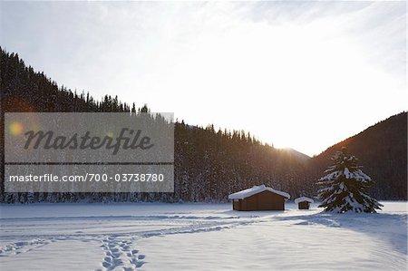 Cabin on Lightning Lake, E. C. Manning Provincial Park, British Columbia, Canada