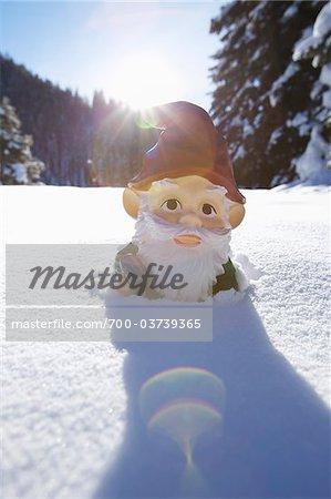 Garden Gnome in Deep Snow