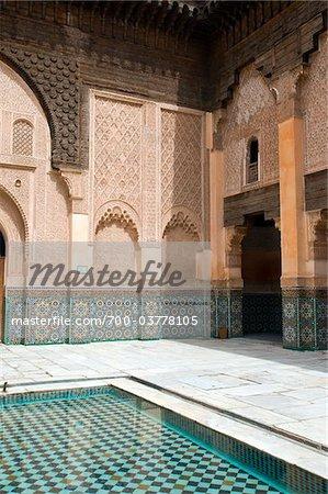 Patio at Ben Youssef Madrasa, Marrakech, Morocco