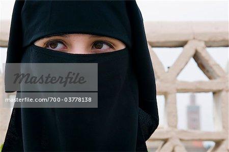 Portrait of Moroccan Woman, Marrakesh, Morocco