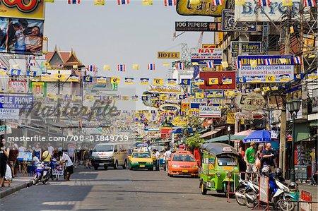 Khaosan Road, Phra Nakhon District, Bangkok, Thailand