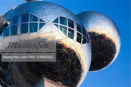 Close-Up of Atomium Structure, Brussels, Belgium