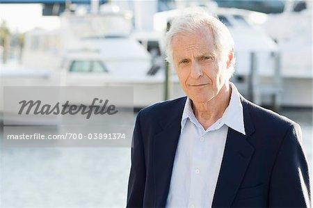 Portrait of Man at Yacht Club