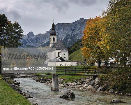 St. Sebastian Church, Ramsau bei Berchtesgaden, Bavaria, Germany