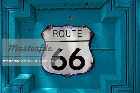 Route 66 Sign, Old Town, Albuquerque, New Mexico, USA