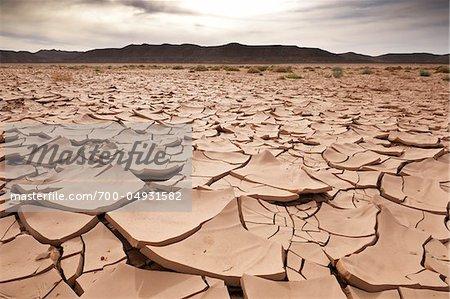 Close-Up of Dry, Cracked Earth, Awbari, Fezzan, Libya