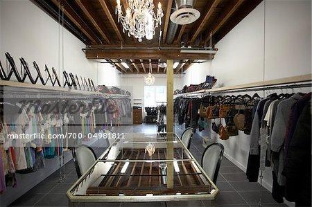 Interior of Clothing Showroom