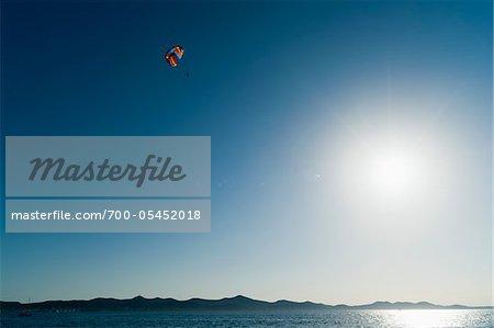 Parachute and Bright Sun, Zadar, Zadar County, Dalmatian Region, Croatia