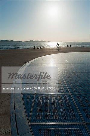 Sun Salutation Monument, Zadar, Zadar County, Dalmatian Region, Croatia,