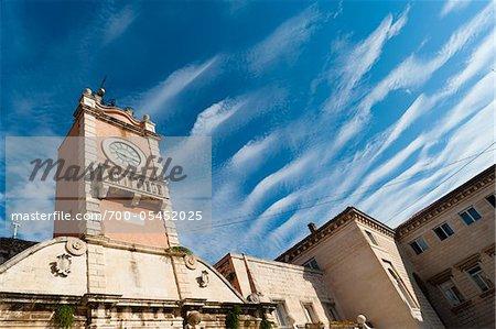 Town Guard Loggia and Church of St. Lawrence, Narodni Trg, Zadar, Zadar County, Dalmatia, Croatia