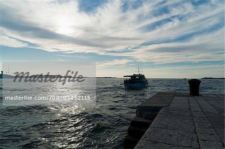 Boat and Pier, Zadar County, Dalmatia, Croatia