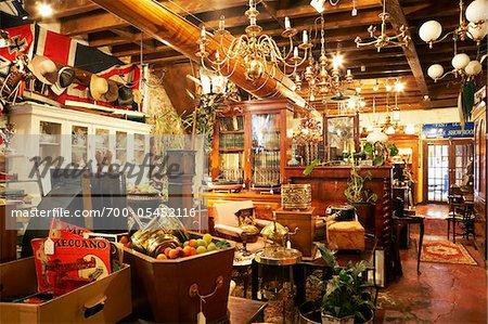 Interior of Antiques and Jumble Shop, Edinburgh, Scotland, United Kingdom