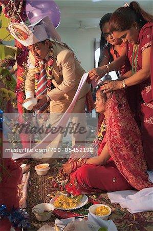 Hindu Wedding Ceremony for Nepalese Couple, Bangkok, Thailand