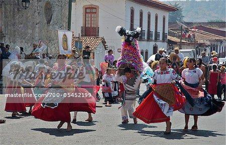 St. Fatima Parade in Plaza Gertrudis Bocanegra, Patzcuaro, Michoacan, Mexico