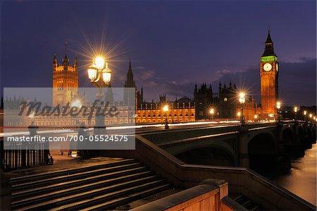 Palace of Westminster at Dusk, London, England