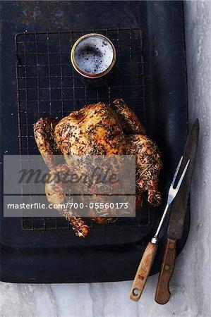 Beer-Butt Chicken