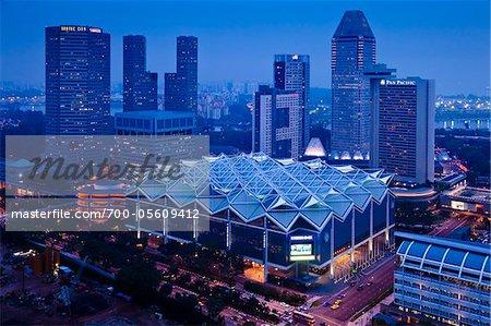 Suntec City at Night, Marina Centre, Singapore