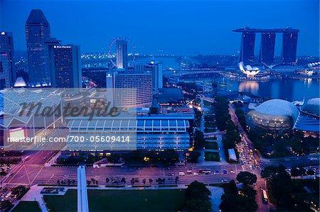 Suntec City and Marina Bay Sands, Marina Centre, Singapore