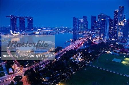Suntec City and Marina Bay Sands, Marina Bay, Singapore