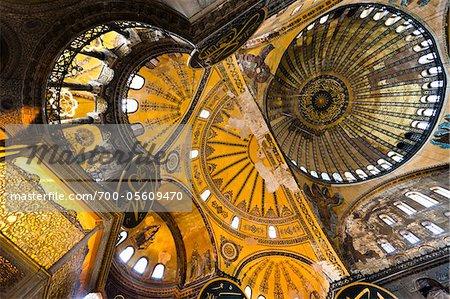 Ceiling, Hagia Sophia, Istanbul, Turkey