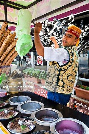Ice Cream Vendor, Sultanahmet District, Istanbul, Turkey