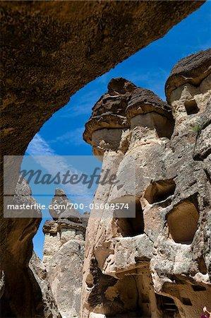 Rock Formation Dwellings, Pasabagi, Cappadocia, Turkey