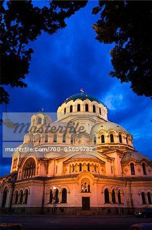 Alexander Nevsky Cathedral at Dusk, Sofia, Bulgaria