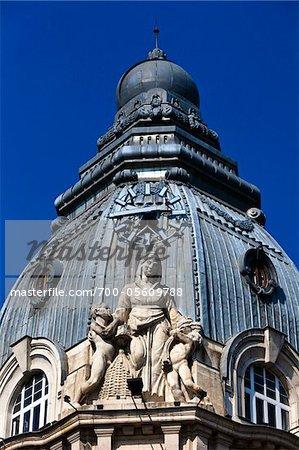 Detail of Sculpture on Bank, Sofia, Bulgaria