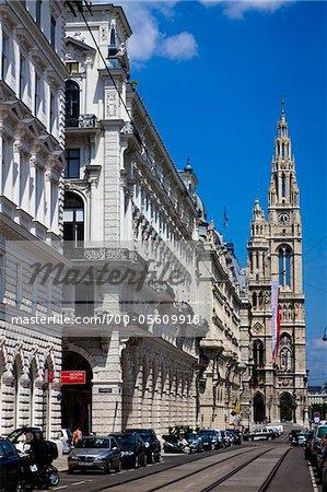 Looking Toward Rathaus on Rathauasstrasse, Vienna, Austria