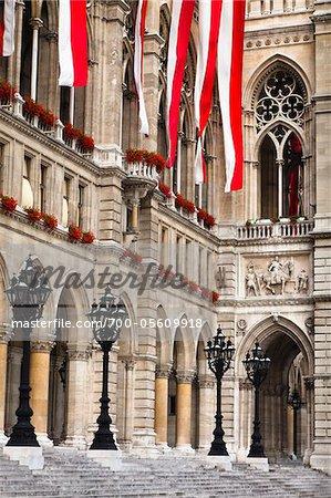 Close-Up of Rathaus, Vienna, Austria