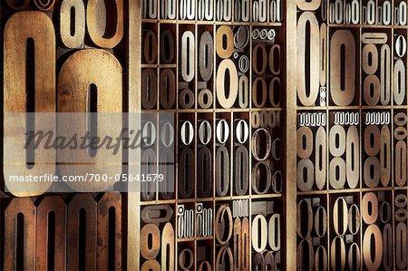 Upper and Lower Case Letterpresses