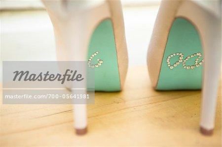 """I Do"" in Rhinestones on Bottom of Shoes"